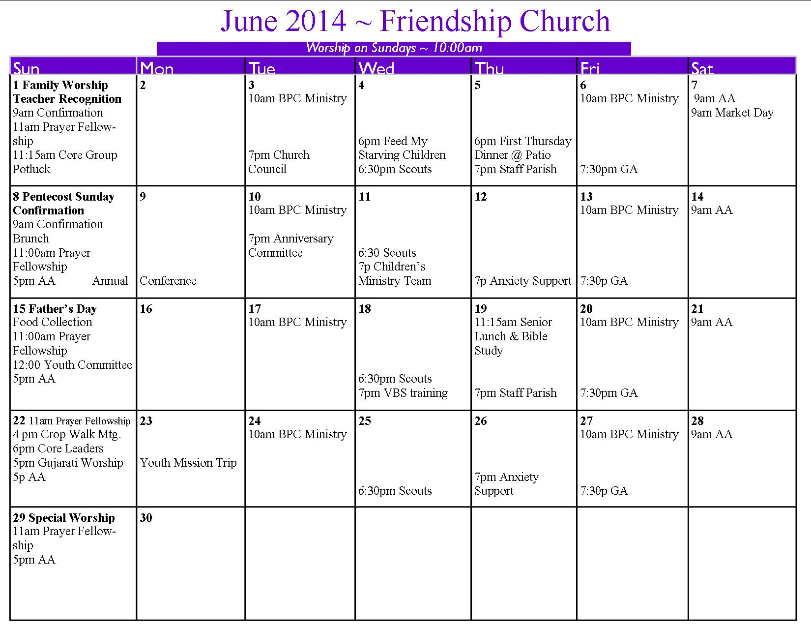 United Methodist Liturgical Calendar