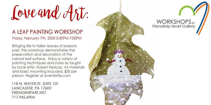 Love and Art: A Leaf Painting Workshop