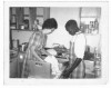 Abel with Caroline Lewis, a missionary from World Gospel Mission in Indiana. She was teaching Abel how to cook, using modern kitchen appliances. In return, Abel was helping her and her son Stephen to learn French.