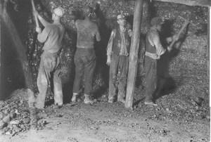 1930s: Miners in West Virginia.