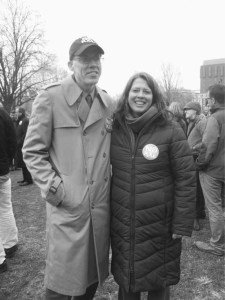 With environmental writer Bill McKibben.