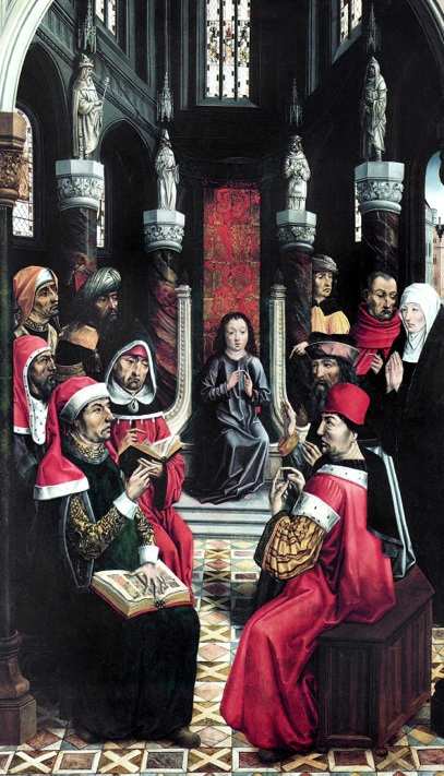"""Christ Among the Doctors"" by Master of the Catholic Kings, circa fifteenth century."