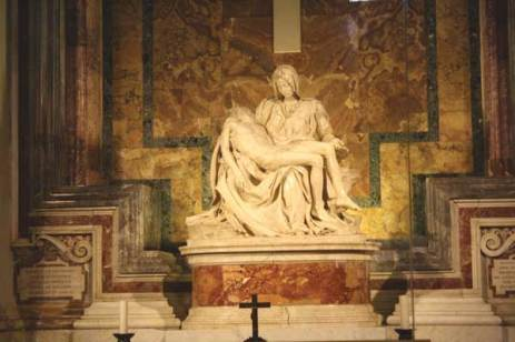 The Pietà, Michelangelo, St. Peter's Basilica, Rome.