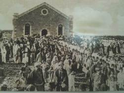 Ramallah Friends meetinghouse, 1910. Image from the book Surmoud: Voices and Images of the Ramallah Friends School