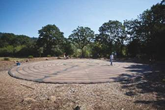 The labyrinth is open to the community at all times.