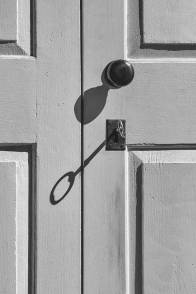 The door to Uxbridge Meetinghouse (built in 1770) in Uxbridge, Mass., is opened with a six-inch brass key. The building is on the National Register of Historic Places. Though the worship group participates in the maintenance, the Quaker Meeting House Association has ultimate responsibility for the care of the building.