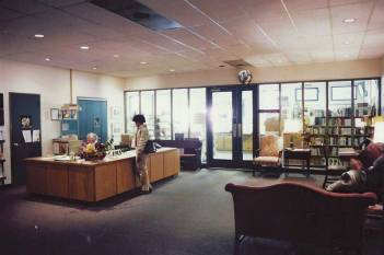 AFSC lobby in the 1970s (archival).