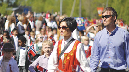 Constitution Day in Fjelhamar, Norway, May 17, 2014.