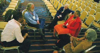 Several Quakers gathered at the White Privilege Conference.