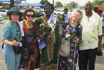 Kenyan Friends welcoming Baltimore Friends.