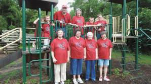 Bluff Point Friends at the New Association picnic at Whitewater Memorial State Park in Liberty, Ind., hosted by Salem Friends Church.