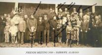 Fairhope Friends in 1936, with names superimposed.
