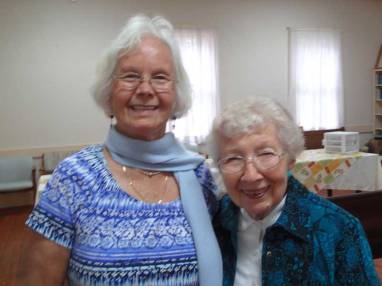 Lillian Rockwell (left) moved from Costa Rica to Fairhope. Phyllis Rockwell Wallace (right) lived with the Quaker group in Monteverde before returning to Fairhope.