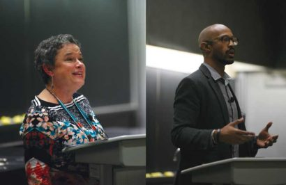 "Keynote speakers Dr Renee Prillaman (left) and William Jackson (right). Photos by Satsuki ""Sunshine"" Scoville of Scoville Photography."