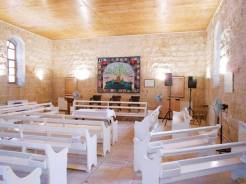 The interior of Ramallah Friends Meetinghouse, March 2014.