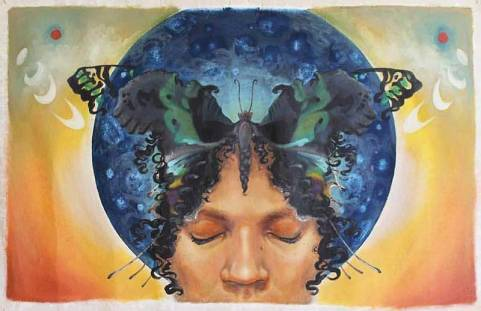 """Butterfly Kisses, Child of Diaspora"" by Tiffany Freeman."
