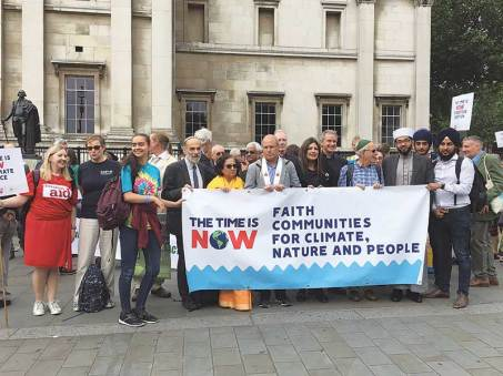 Anya with faith leaders participating in a Walk of Witness, London, June 2019.