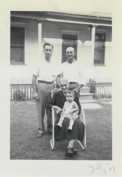 Four generations of Bernthals: the author's father, Wilmar; grandfather Richard; great-grandmother Katie; and the author.
