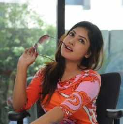 Komal Jha Latest Photos in Orange Dress