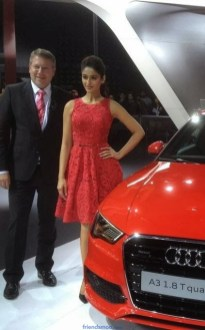 Ileana Latest Photos in Red Dress at Audi A3 Launch.