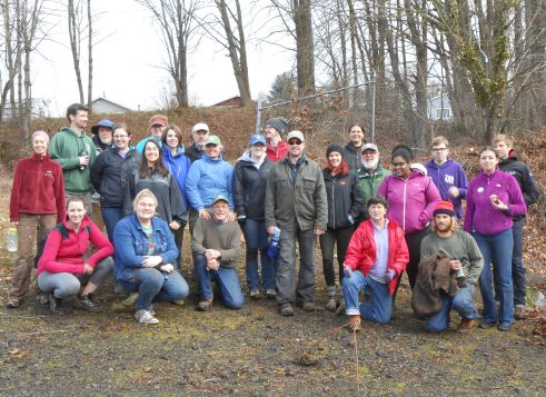 CSW planting day, volunteer group photo. March 4th, 2017