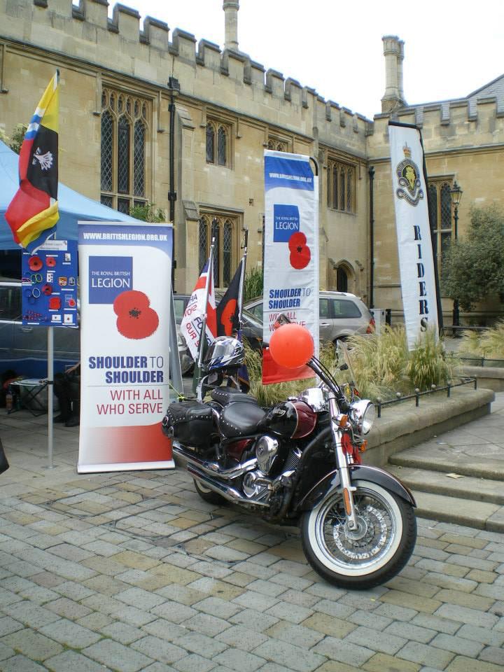 Royal British Legion with Bedfordshire flag