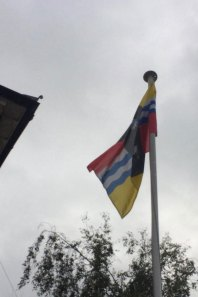 Rectangle Flags fly the Bedfordshire Flag