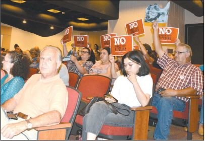 Hundreds Flood Pipeline Hearing