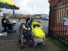 mobility scooter lynn & abandoned kids at tesco island gates