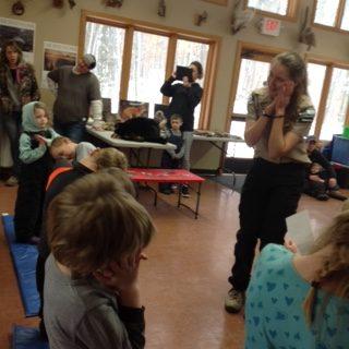 Ranger teaching kids