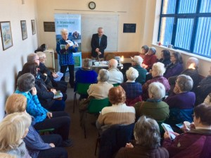 Henry Wymbs talking to Friends of Kennington Library