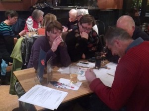 Quizzers hard at work