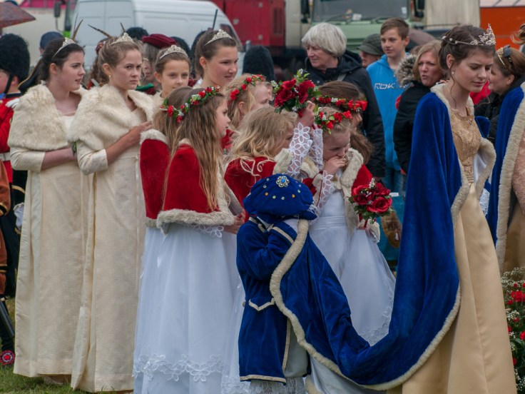 The May Queen's entourage