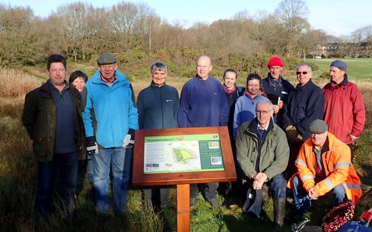 Conservation Volunteer Group ready to start work
