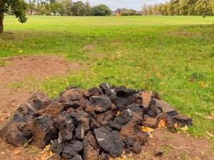 Pile of rubble on The Heath