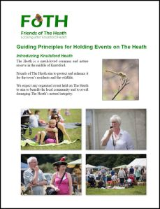 First Page of Guiding Principles for Holding Events on The Heath