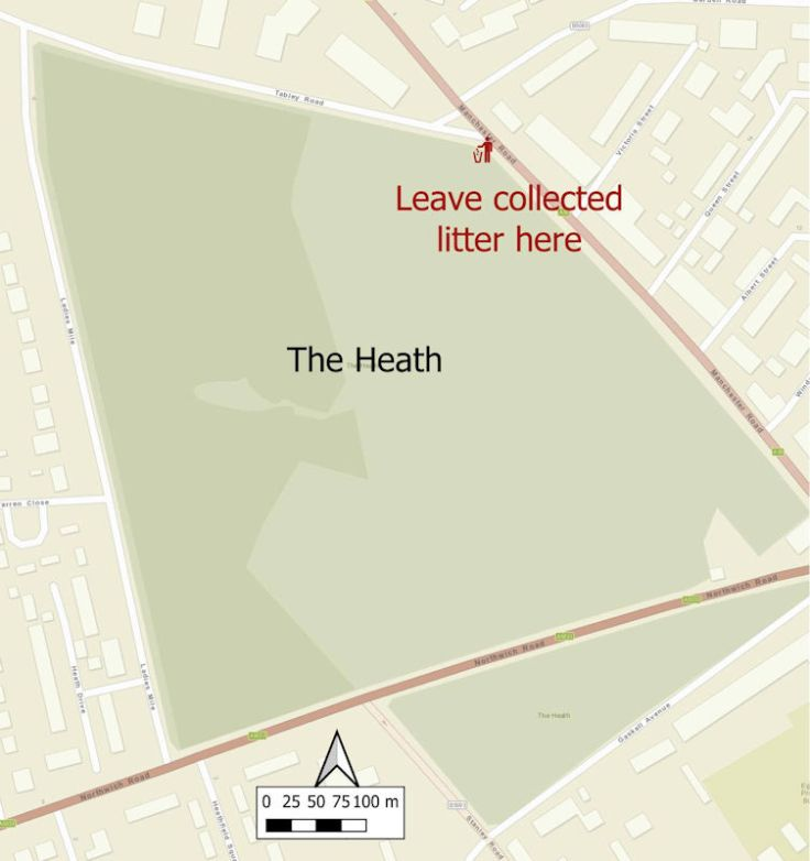 Litter Collection Point Map