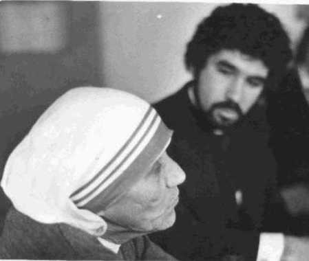 Blessed Mother Theresa of Calcutta Beatified by John Paul II. Sunday October 19, 2003. Father Lou Scurti visited Mother Theresa with 25 De Paul High School students at St. Anthony Convent, Bronx, NY in 1980