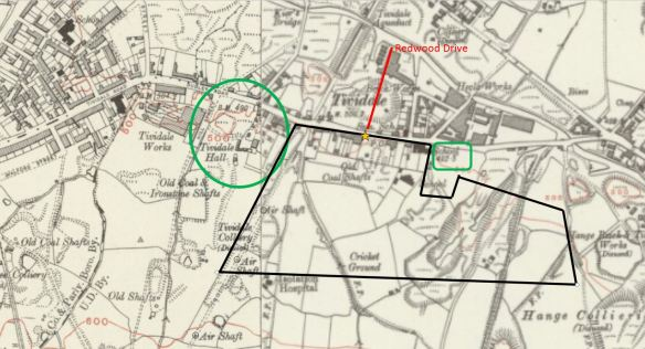 Tividale Hall Map