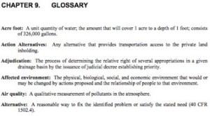 DEIS Glossary