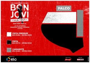 Mapa dos Setores Bon Jovi em Curitiba