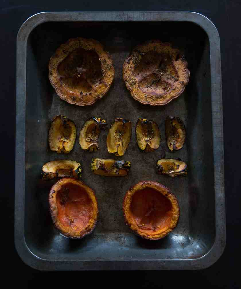 Roasted assorted squash