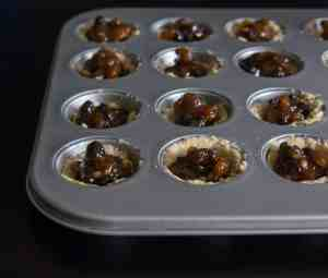 luten free, vegan filled mini mince pie cases. Ready to bake