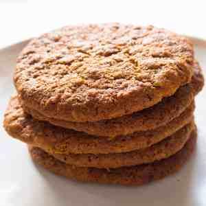 Crunchy Gluten-Free, Vegan Ginger Oat Biscuits