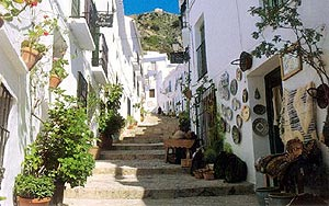 zacatin, the center of frigiliana
