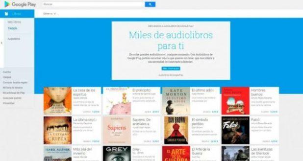 Google Play ha incorporado hoy un grancolección de audiolibros