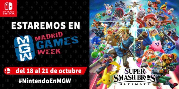 Nintendo ofrecerá en Madrid Games Week los juegos más esperados de Nintendo Switch