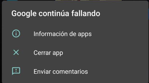 """Te sale este error hoy en tu móvil Android """"Google continúa fallando"""" Te explicamos como puedes solucionarlo."""