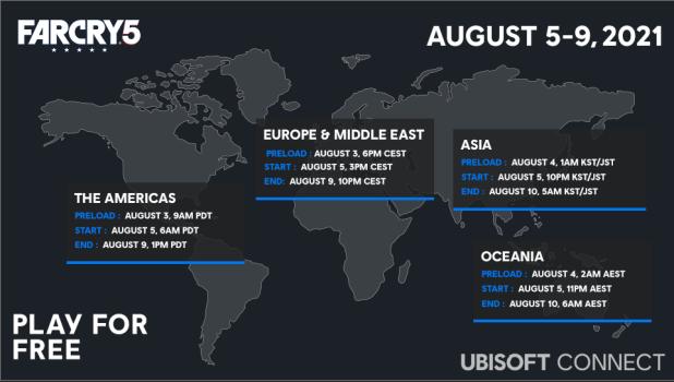 Far Cry 5 estará disponible para jugar gratis del 5 al 9 de agosto