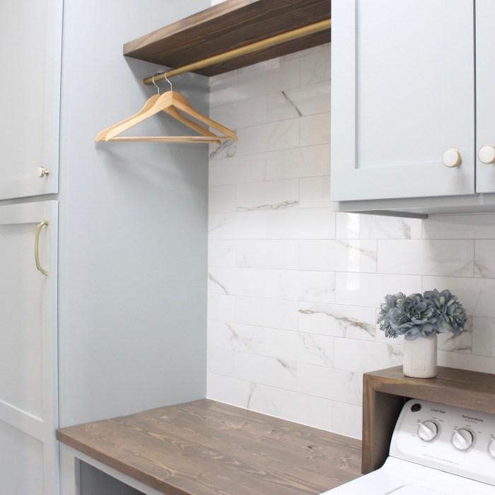 laundry room-diy-easy-tile-shelves